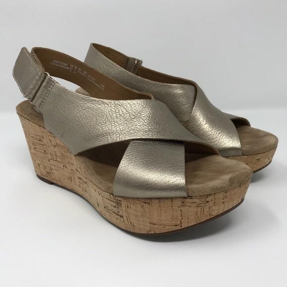 efa711c87fbd Clarks Shoes - CLARKS Women s Annadel Eirwyn Wedge Sandal